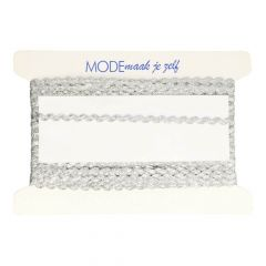Zigzag ribbon 4mm silver or Gold - 25m