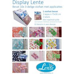 Lente - 3-piece set of fabrics  (10 different sets per display)