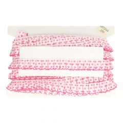 Grossgrain ribbon with heart wrinkled 30mm - 20m