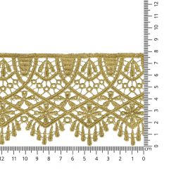 Lace trim 80mm gold - 13.7m