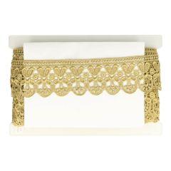 Lace trim 70mm gold - 13.7m