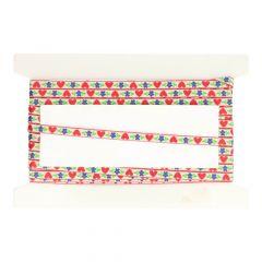 Ribbon flower-heart 7mm - 25m