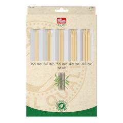 Prym 1530 double-pointed needle set bamboo 2.50-4.50mm - 1pc