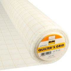 Vlieseline Quilter's grid 112cm white - 15m