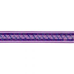 Ribbon with flowers and beads 25mm - 9m