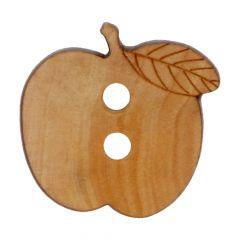 "Wooden Button apple 24"" of 28"" - 50pcs"