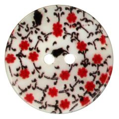 Button mother-of-pearl print size 24 - 15mm - 50pcs
