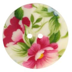 Button mother-of-pearl print 100 B/W - 20pcs