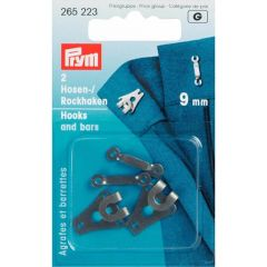 Prym Trouser and skirt hooks bars steel 9mm - 5x2pcs