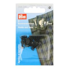 Prym Trouser and skirt hooks w. bars 9.5mm - 5x3pcs