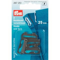 Prym Skirt hooks steel 25mm - 5x2pcs
