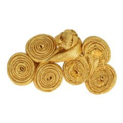 Chinese button rolls large 5,5cm - 12pcs - Gold