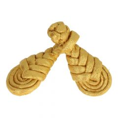 Chinese button braid large 9cm - 6pcs - Gold
