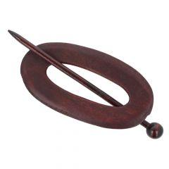 Cardigan fastener wood oval 95mm - 5pcs - 2