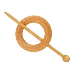 Cardigan fastener wood circle 60mm - 5pcs