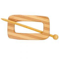 Cardigan fastener wood 100mm natural - 5pcs
