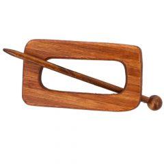 Cardigan fastener wood 100mm dark - 5pcs