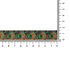 Satin ribbon peacock 15mm - 20m