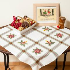 Tissu de Marie Emb. kit pre-print. table cloth 80x80cm - 1pc