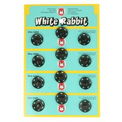 Sew-on snap fasteners white rabbit 18mm -6x12pcs - 000