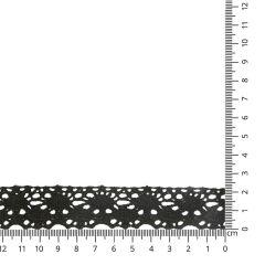 Lace trim cotton 25mm - 25m