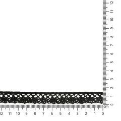 Lace trim cotton 18mm - 25m