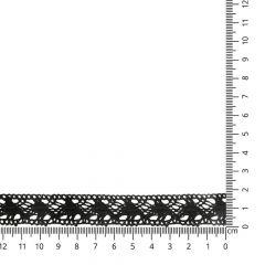 Lace trim cotton 22mm - 25m