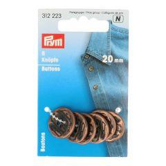 Prym 4-hole Buttons Copper - 3pcs. N