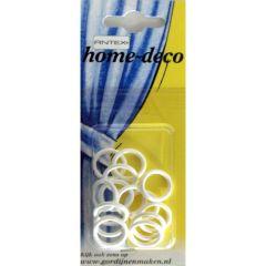 Antex Curtain grommets plastic 13x18mm white - 5x15pcs