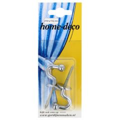 Antex Curtain tieback hook ball 28mm chrome - 2x5pcs