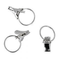 Antex Curtain ring with clip 23mm chrome - 100pcs