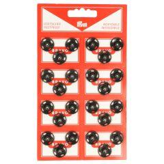 Prym Press fasteners 15mm black - 6pcs