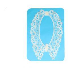 Collar 44 cm - white