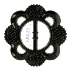 Decorative buckle flower 30mm - 6pcs