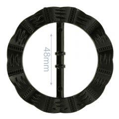 Decorative buckle round wavy 48mm - 6pcs