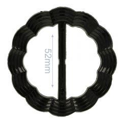 Decorative buckle round wavy 52mm - 6pcs