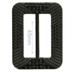 Decorative buckle rectangle 45mm - 6pcs