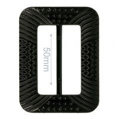 Decorative buckle plastic rectangle 50mm - 6pcs