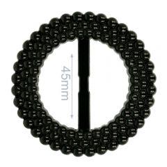 Decorative buckle plastic round 45mm - 6pcs