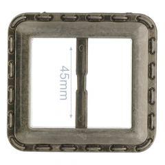 Decorative buckle square plastic 45mm - 6pcs
