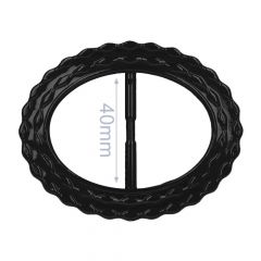 Decorative buckle oval plastic 40mm - 6pcs