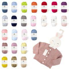 DMC Baby cotton assortment 10x50g - 24 colours - 1pc