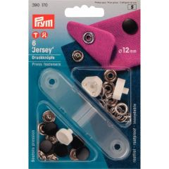 Prym Non-sew press fast. Jersey MS sm. cap 12mm - 5pcs.S