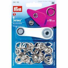 Prym Non-sew press fast. Jersey MS pr. ring 18mm -5ps.BB