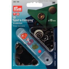 Prym Non-sew press fast. Sport Camping MS 15mm - 5pcs. BB