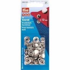 Prym Refill Packs ANORAK 12mm SIL. col. - 5pcs.  T