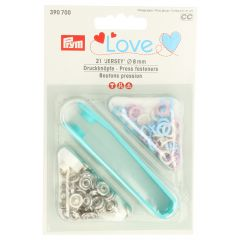 Prym Love press fasteners jersey 8mm - 5x21pcs
