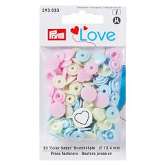 Prym Love press fasteners heart 12.4mm - 3x30pcs