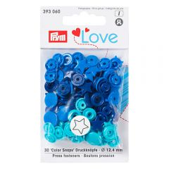 Prym Love press fasteners star 12.4mm - 3x30pcs
