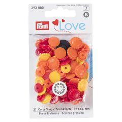 Prym Love press fasteners flower 13.6mm - 3x21pcs